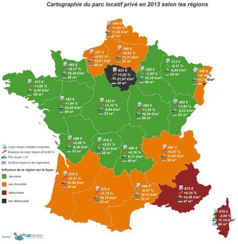 Evolution des prix des locations en France en 2013