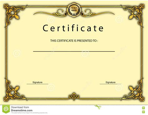 certificate design beautiful certificate of appreciation border design choice image