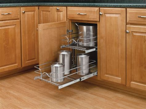 rev a shelf base pullout rev a shelf 5wb2 1522 cr chrome 5wb series 15 quot double pull