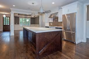 white cabinets with dark brown island transitional kitchen brown kitchen cabinets with white island quicua com