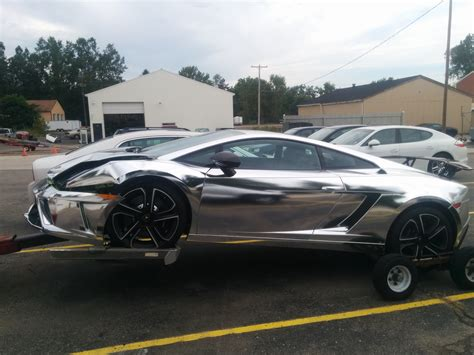 chrome lamborghini chrome lamborghini crashes into jeep wrangler in michigan