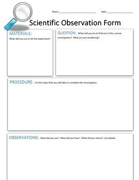 science observation template science observation template 28 images the busy
