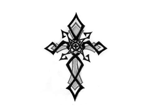 cross tattoo with tribal background simple tribal cross clipart best