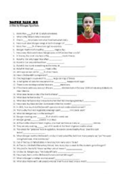 Supersize Me Worksheet Answers by Teaching Worksheets Quizzes
