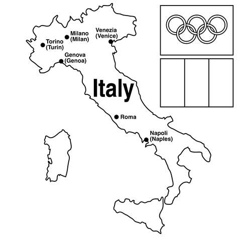 printable map of italy for kids az coloring pages