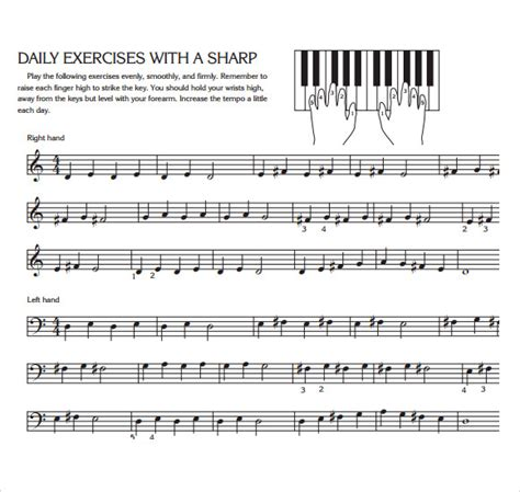 piano key notes sle piano notes chart 8 free documents in pdf