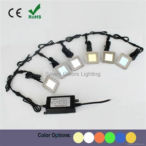 led lights for stairs kit outdoor recessed square led stair light kit sc b102b