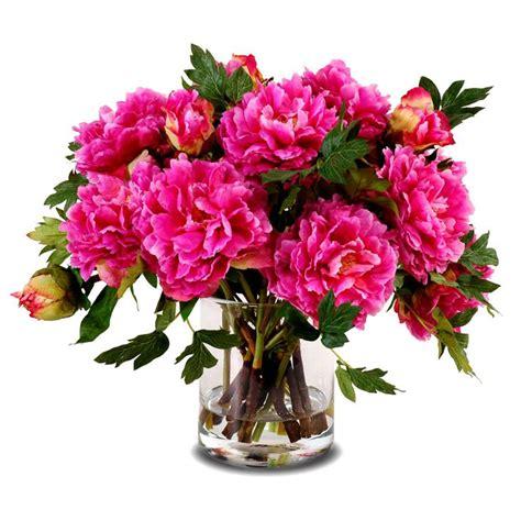 peony flower arrangement dark pink peony faux flower arrangement