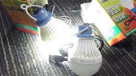 Lu Led Bulb Usb Kabel 5watt 5 Watt jual lu bohlam gantung led bulb powerbank pc usb 5 w 5w