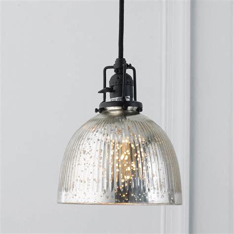 Mercury Glass Light Pendant Ribbed Dome Mercury Glass Shade Pendant Light Glass Shades Mercury Glass And Black
