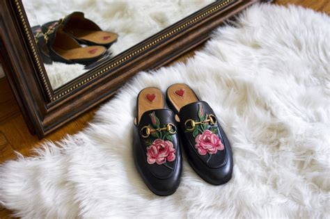 gucci princetown floral mule samcora  fashion