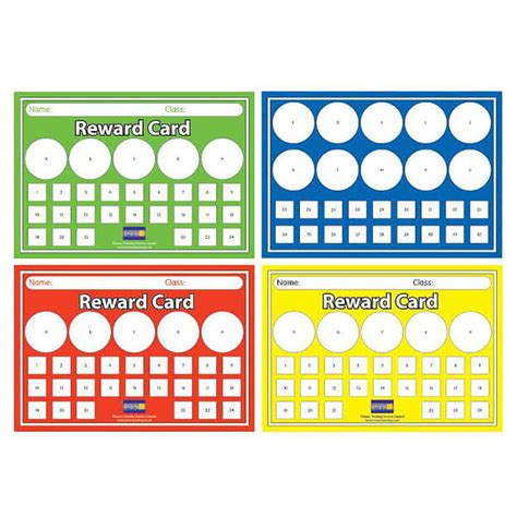 Reward Gift Card - house colour a5 sticker saver reward cards pack of 32