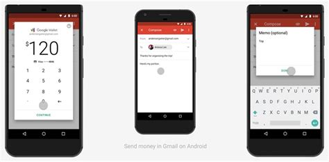 how to send from android how to send receive and request money using email on gmail android app the android soul