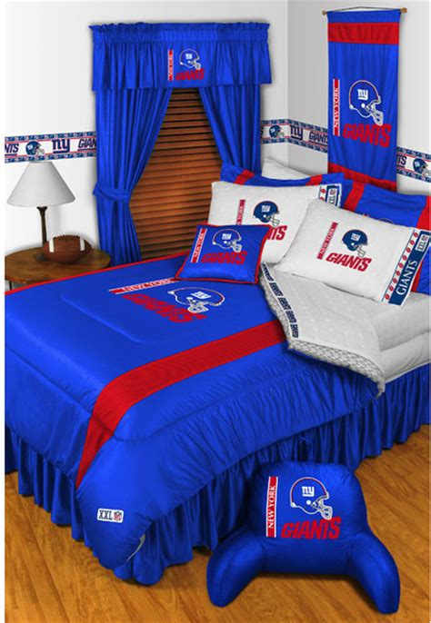 Bed Linens Nyc Nfl New York Giants Bedding And Room Decorations Modern
