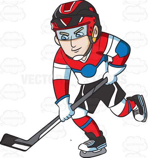 hockey clip a hockey player practicing before a clipart by