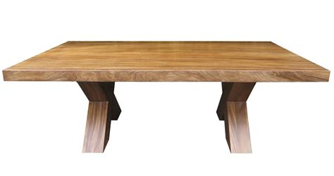 The Block Dining Tables Suar Dining Table With Block Legs