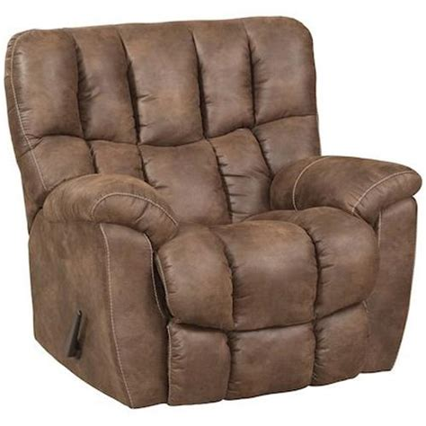 Overstuffed Recliner by Homestretch 133 91 Casual Power Rocker Recliner With Overstuffed Biscuit Back Design V