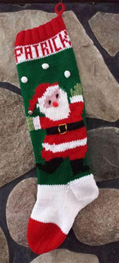 patterns for vintage christmas stockings santa and tree christmas stocking knitting pattern