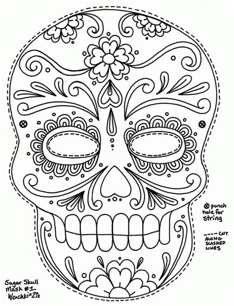 sugar skull coloring pages pdf free girl skulls colouring pages coloring university free skull