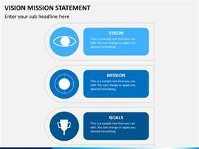project vision template vision mission statement powerpoint template