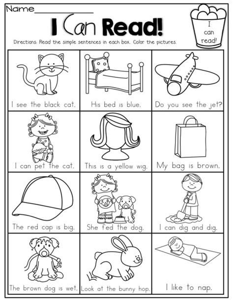 where can i read free i can read simple sentences with sight words cvc words