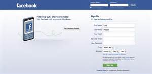 Signing up for a facebook account has become the first step into