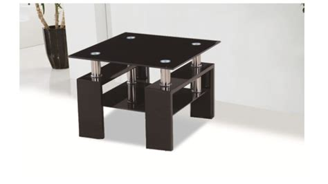 Black Glass Side Table Black Glass High Gloss Side L Table Homegenies