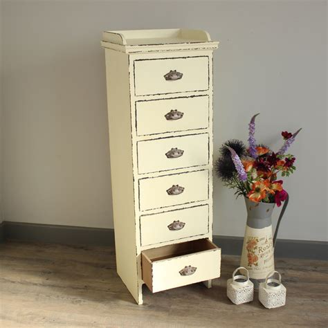Slim Dresser by Antique White Slim Chest Of Drawers Melody Maison 174