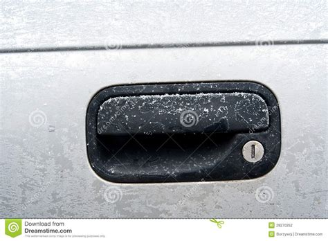 frozen car lock stock photography image 28270252