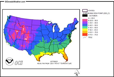 dew point map united states yearly annual and monthly maximum dew