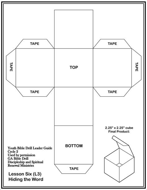 cube template sunday school pinterest window house