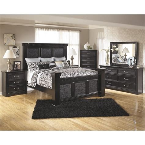 cavallino king bedroom set ashley cavallino 6 piece wood king panel bedroom set in