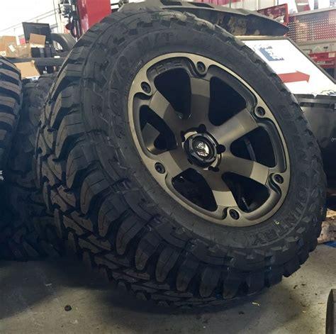 Exo Trucker Black 20 quot fuel beast d564 black wheels rims and 35 quot toyo mt