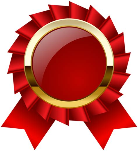 Award Rosette Ribbon PNG Clipar Image   clipart Trophy and