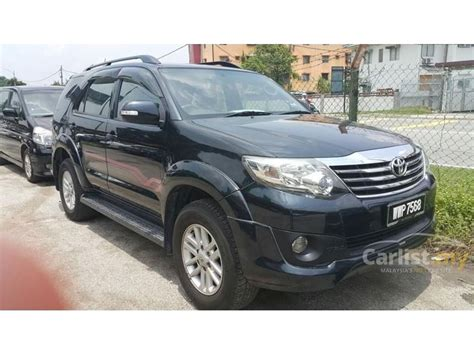 Toyota Fortuner 2 5 2012 toyota fortuner 2012 g vnt 2 5 in selangor automatic suv