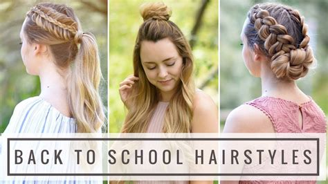 8 killer back to school hairstyles for hair 3 easy heatless diy back to school hairstyles braids doovi