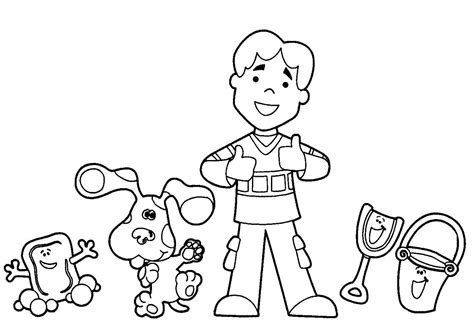 printable blue s clues coloring pages coloring me