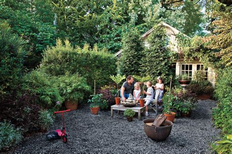 ga backyard graveled courtyard budget friendly backyard landscaping