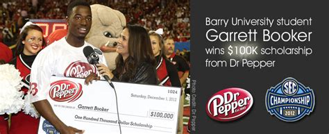 Dr Pepper Scholarship Giveaway - barry university news barry student garrett booker wins 100k scholarship from dr