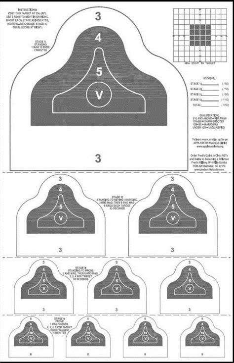 Printable Appleseed Targets | the michael bane blog monday podcast day