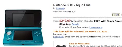 amazon nintendo 3ds nintendo 3ds up for pre orders at amazon gamestop stores