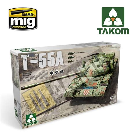 Takom 1 35 Russian Medium Tank T 55 Am 1 35 russian medium tank t 55 a 3 in 1 ammo by mig jimenez