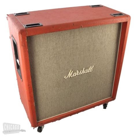marshall 1960b cabinet red 1971 reverb