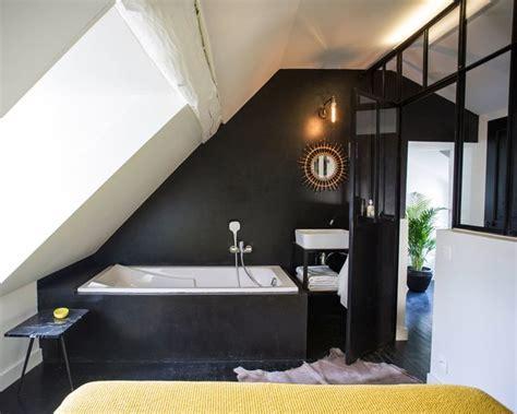 Decoration Chambre Comble Avec Mur Incliné by Un Appart En Normandie Relook Avec Style With