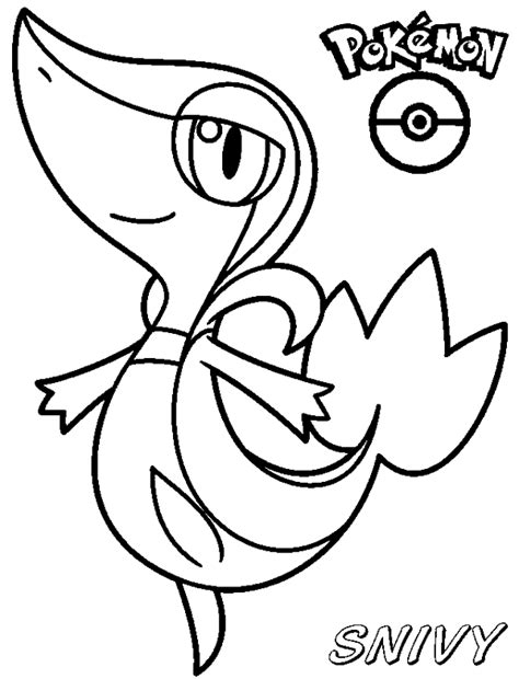 pokemon coloring pages printable snivy free coloring pages of pokemon snivvy