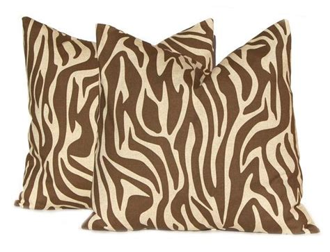 Brown Zebra Print Pillows by 20 Best Images About Zebra Print Throw Pillows On