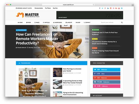 top 40 news magazine wordpress themes 2018 colorlib