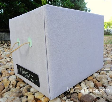 diy fabric storage box with a handle shelterness get organized with diy fabric covered storage boxes do