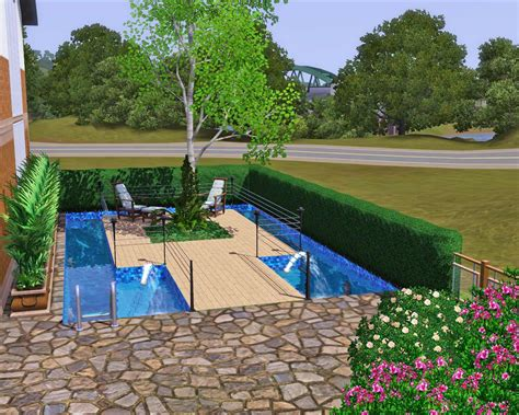 Pool House mod the sims open plan living no cc