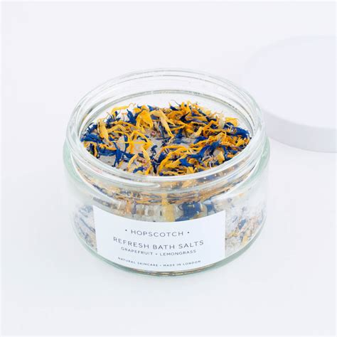 bathtub salts refresh all natural bath salts by hopscotch